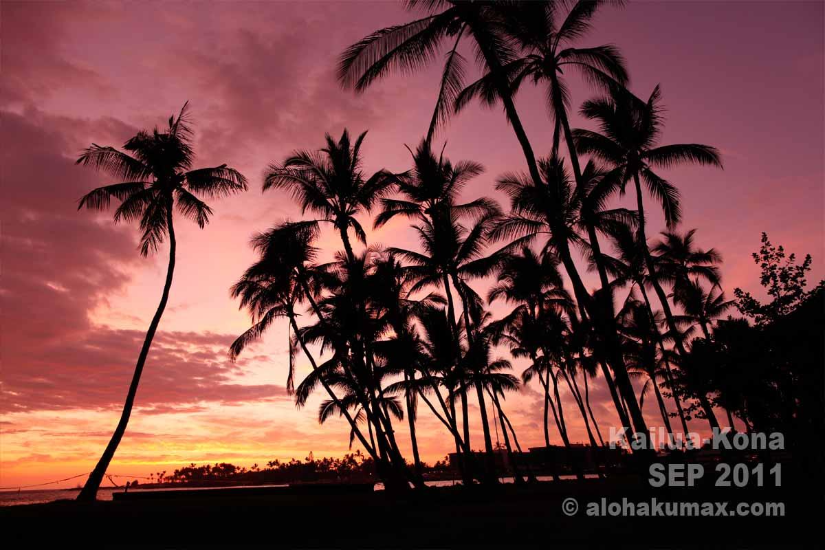 カイルア・コナの夕陽