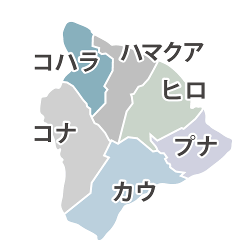 ハワイ島 エリアマップ