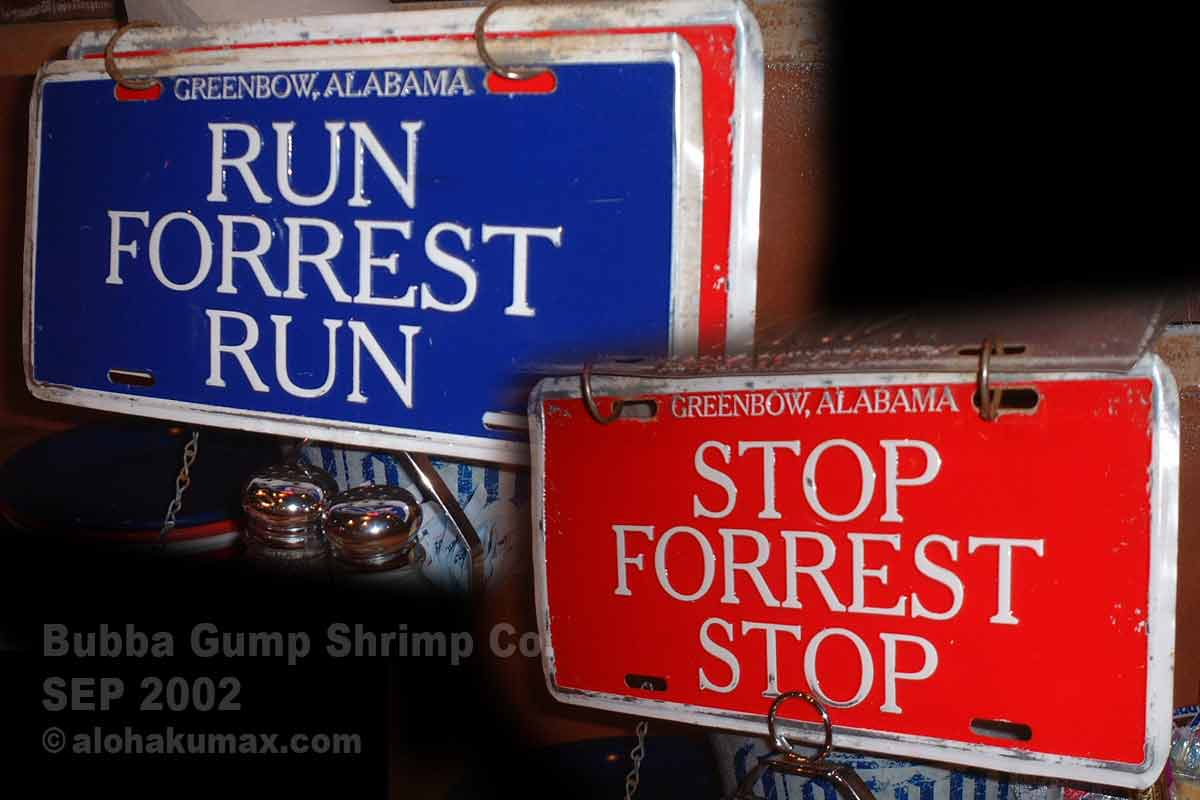 RUN FORREST RUN / STOP FORREST STOP