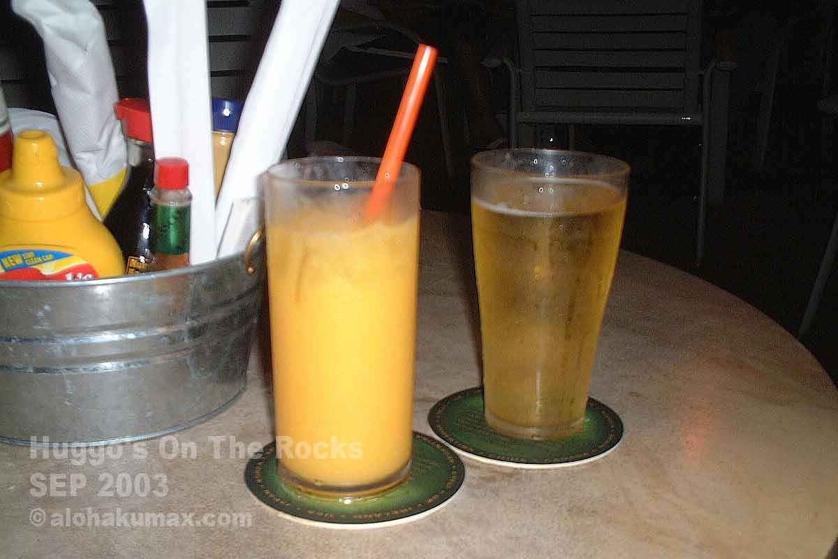ビール & オレンジジュース
