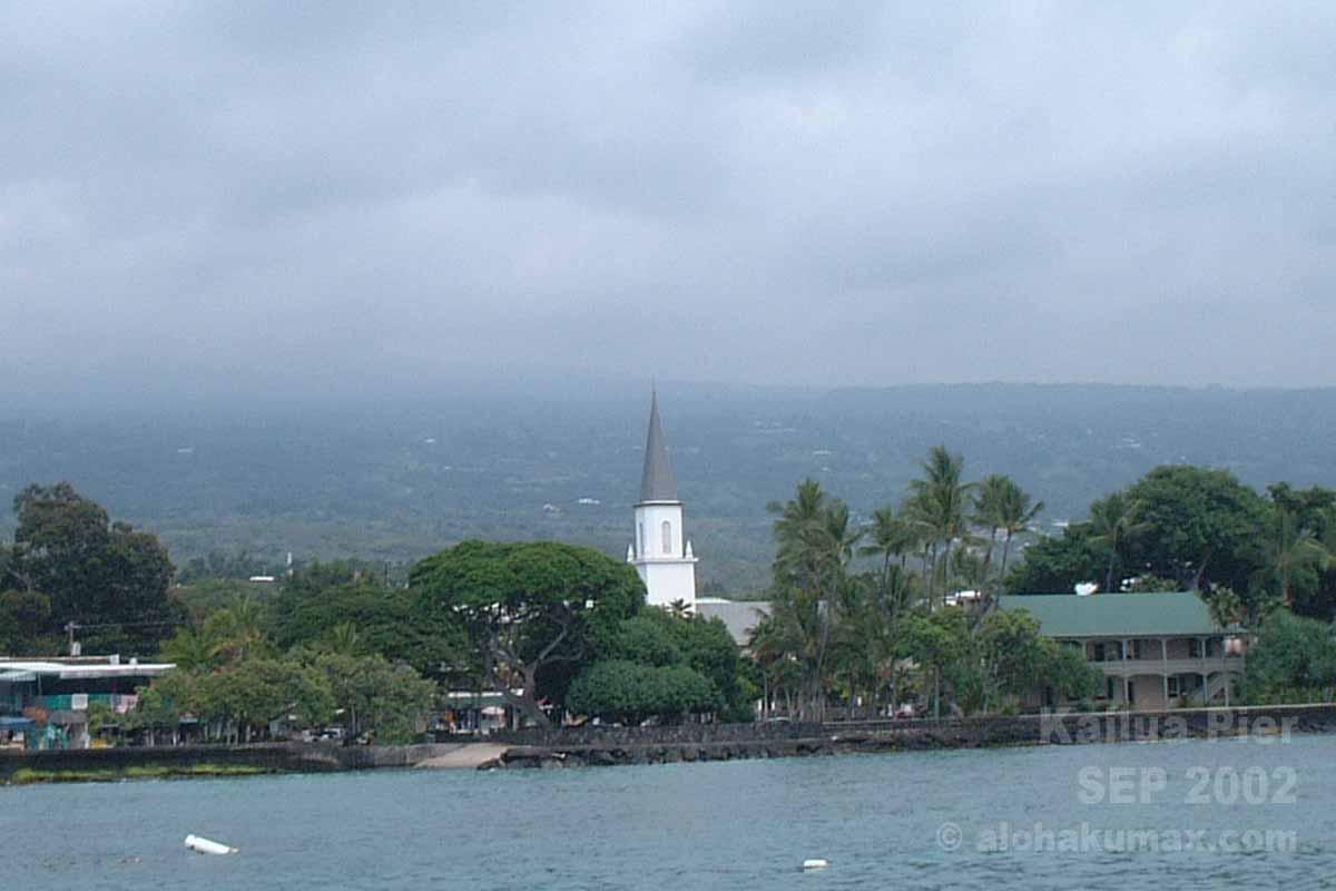 カイルア桟橋から眺めた景色