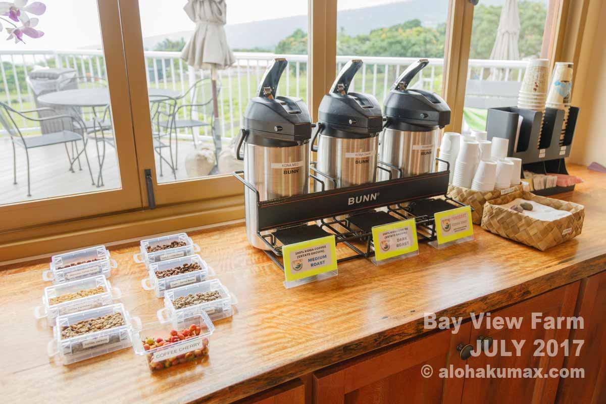 コーヒーの試飲コーナー