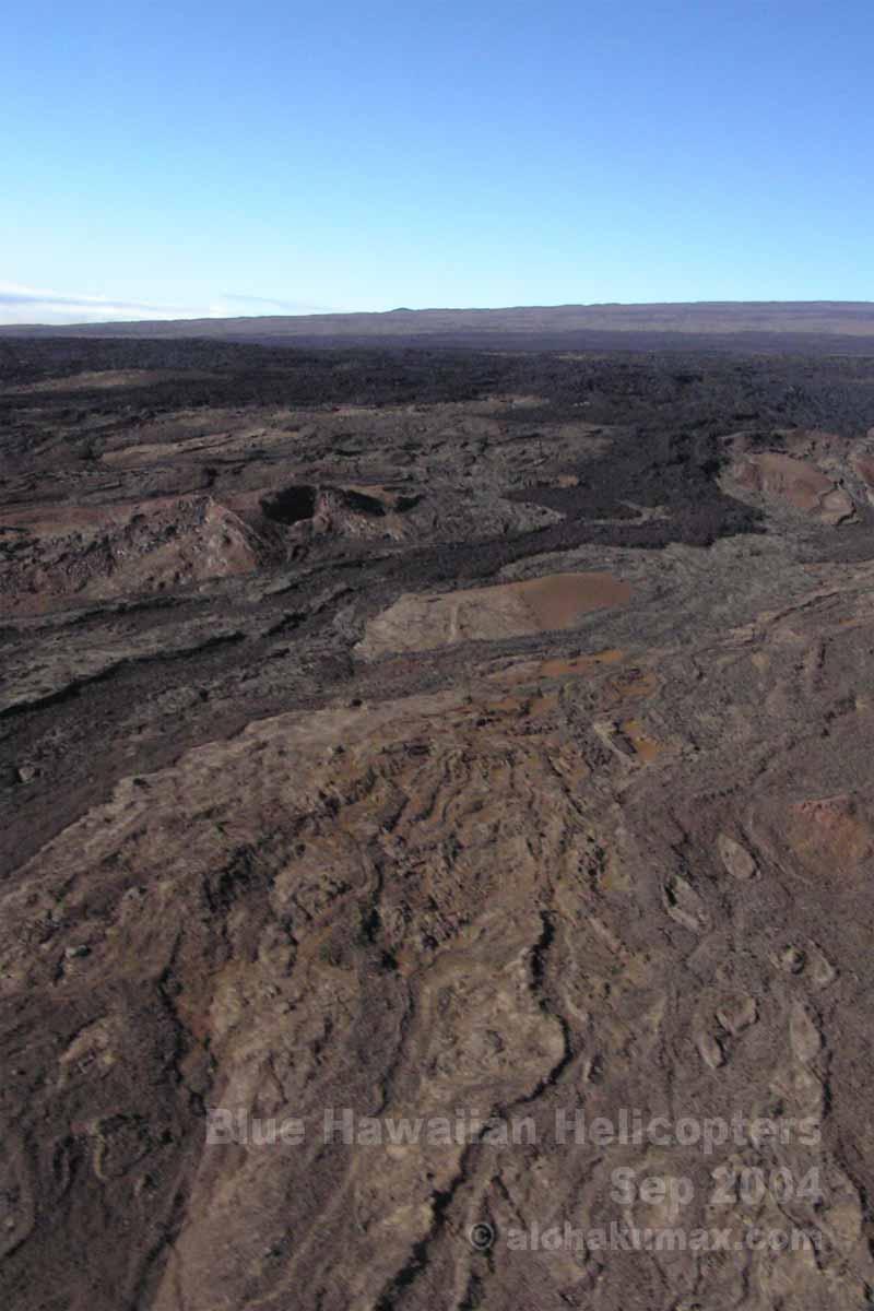 溶岩の流れた跡