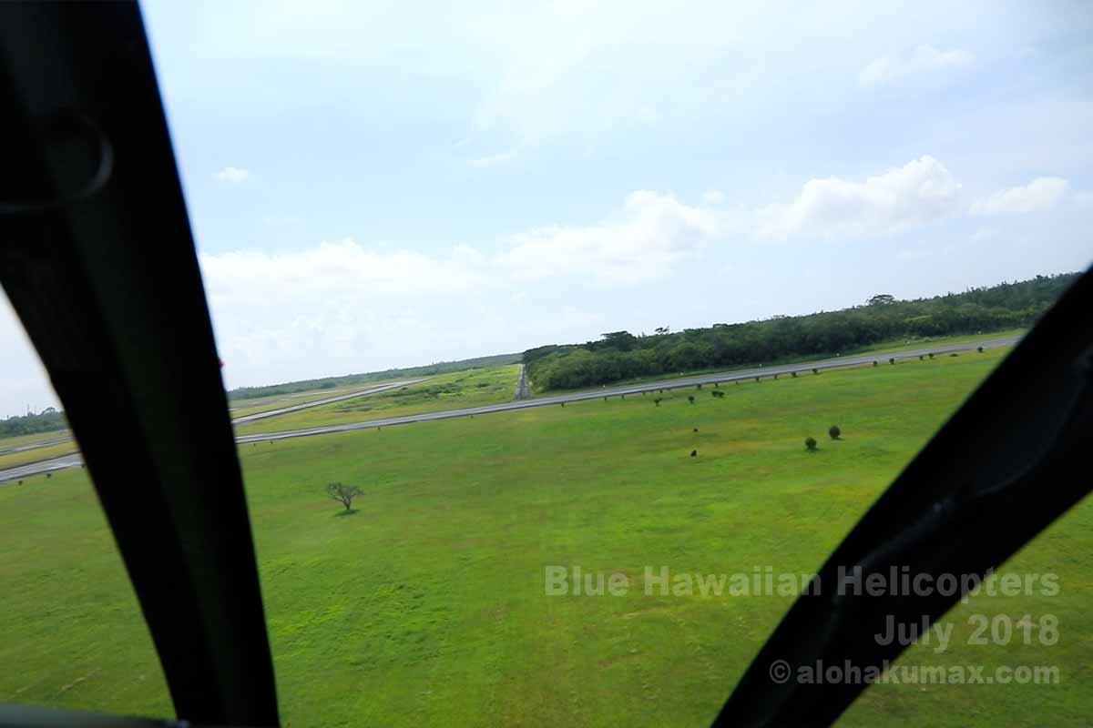ヒロ空港を離陸
