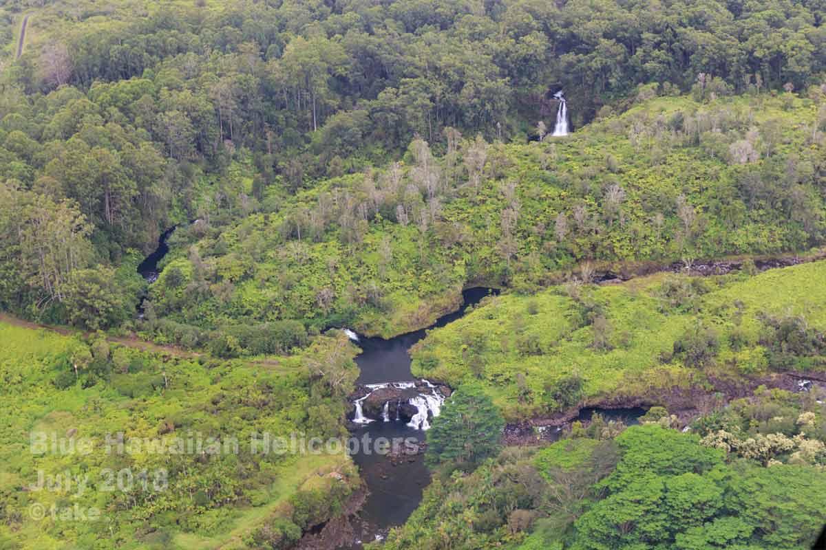 ワイルク川の滝