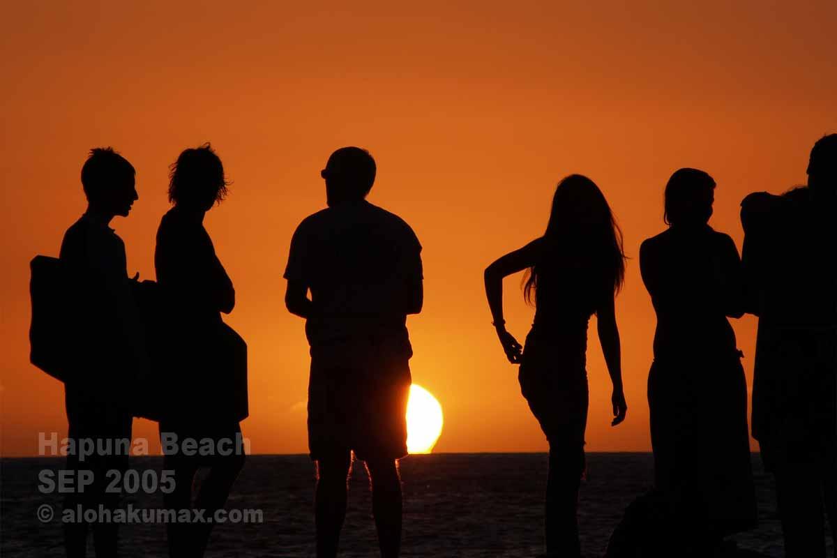 ハプナの夕陽