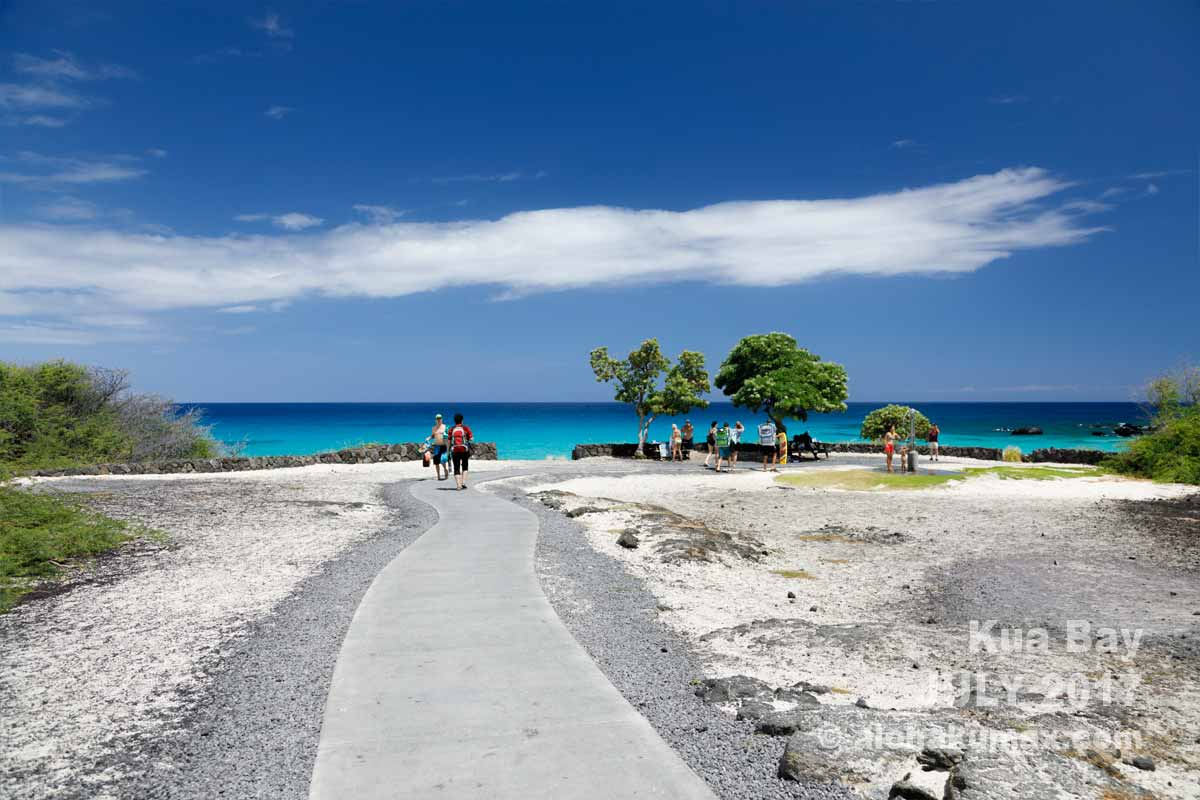 駐車場からビーチへ