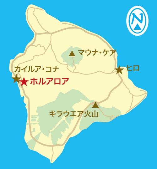 ハワイ島地図
