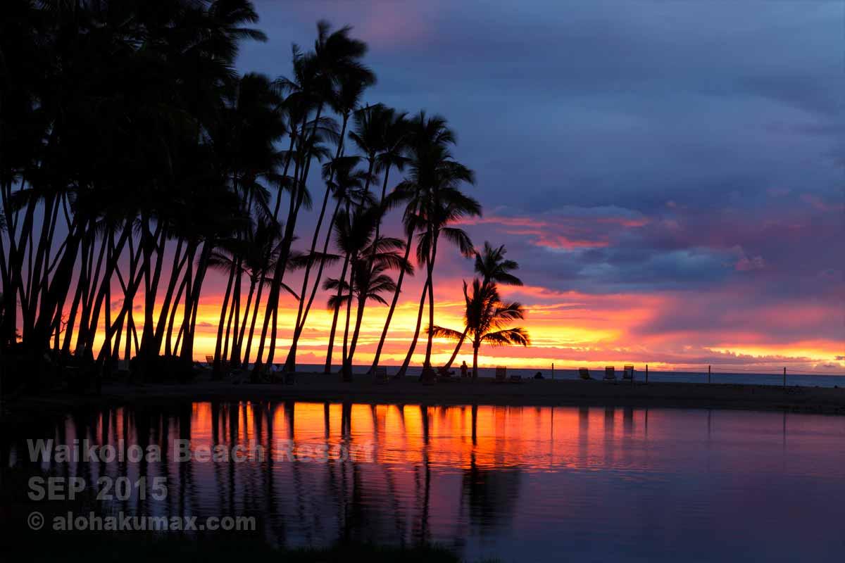 Aベイの夕陽