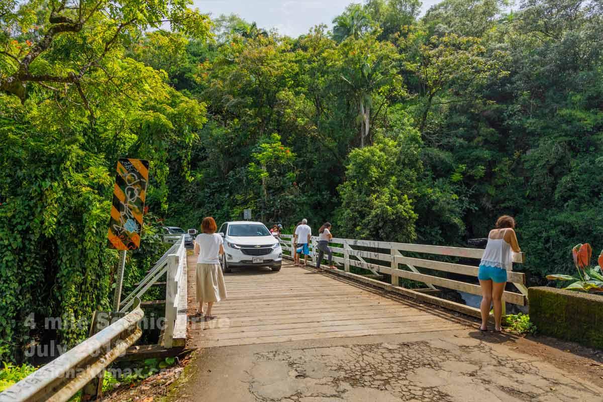 カワイヌイ・ストリームに架かる橋