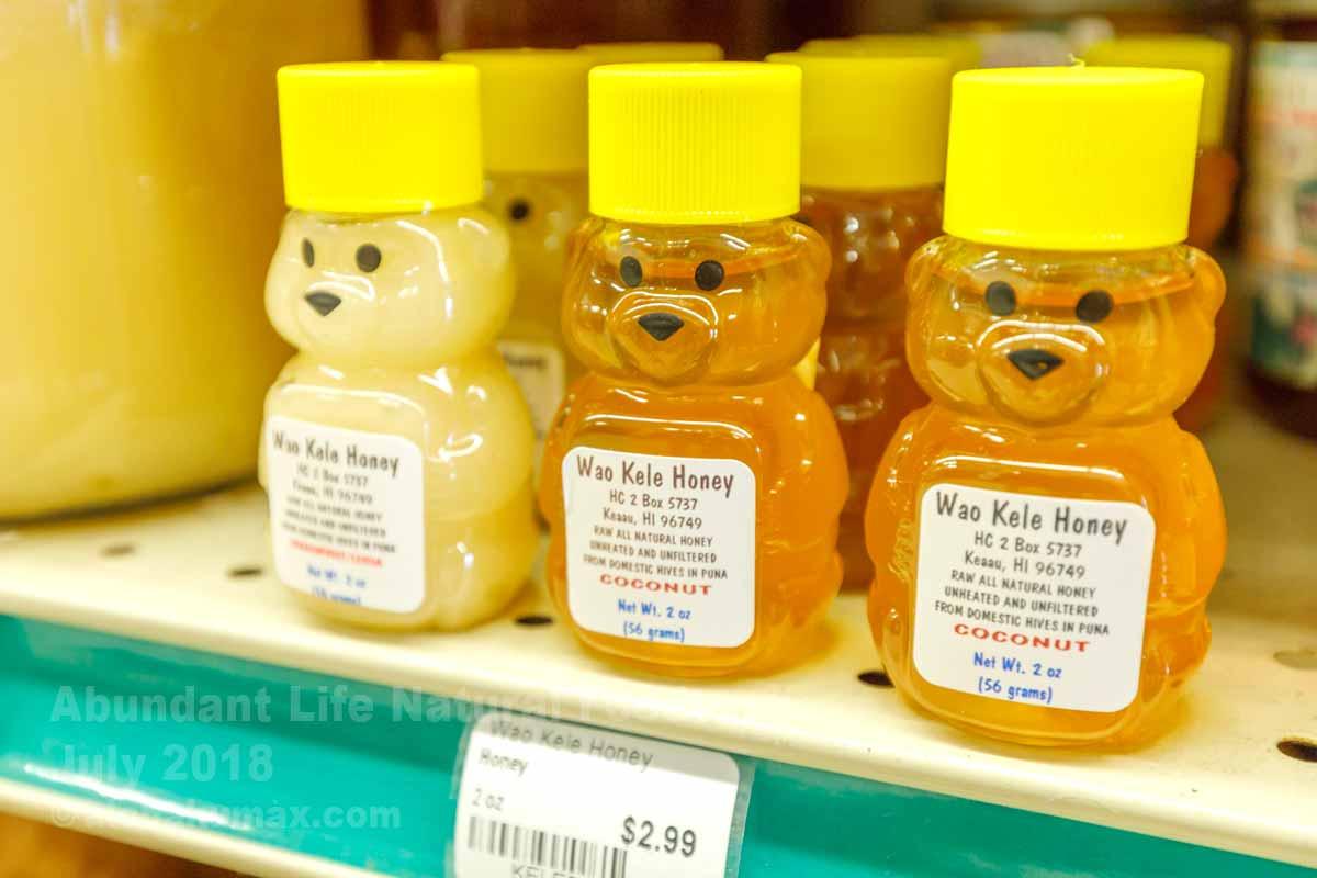 クマさん型のハチミツ