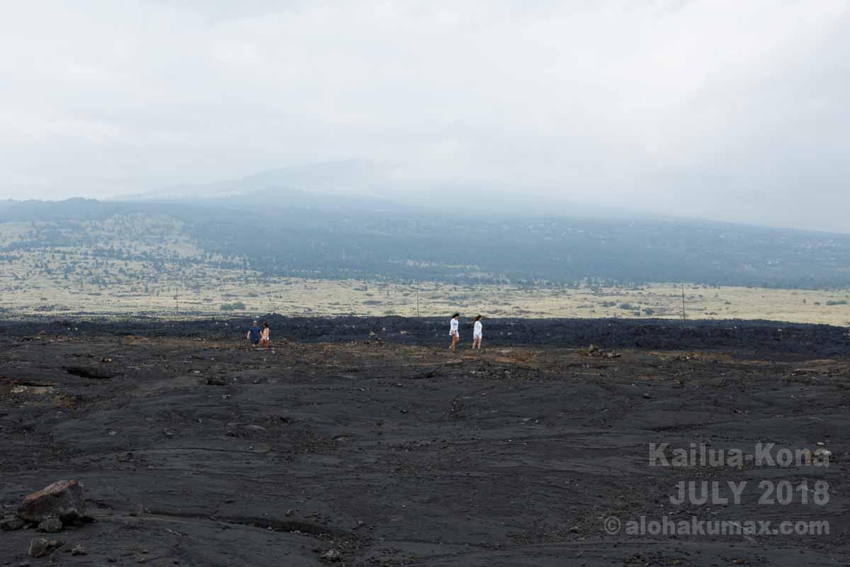 VOGで霞むフアラライ山