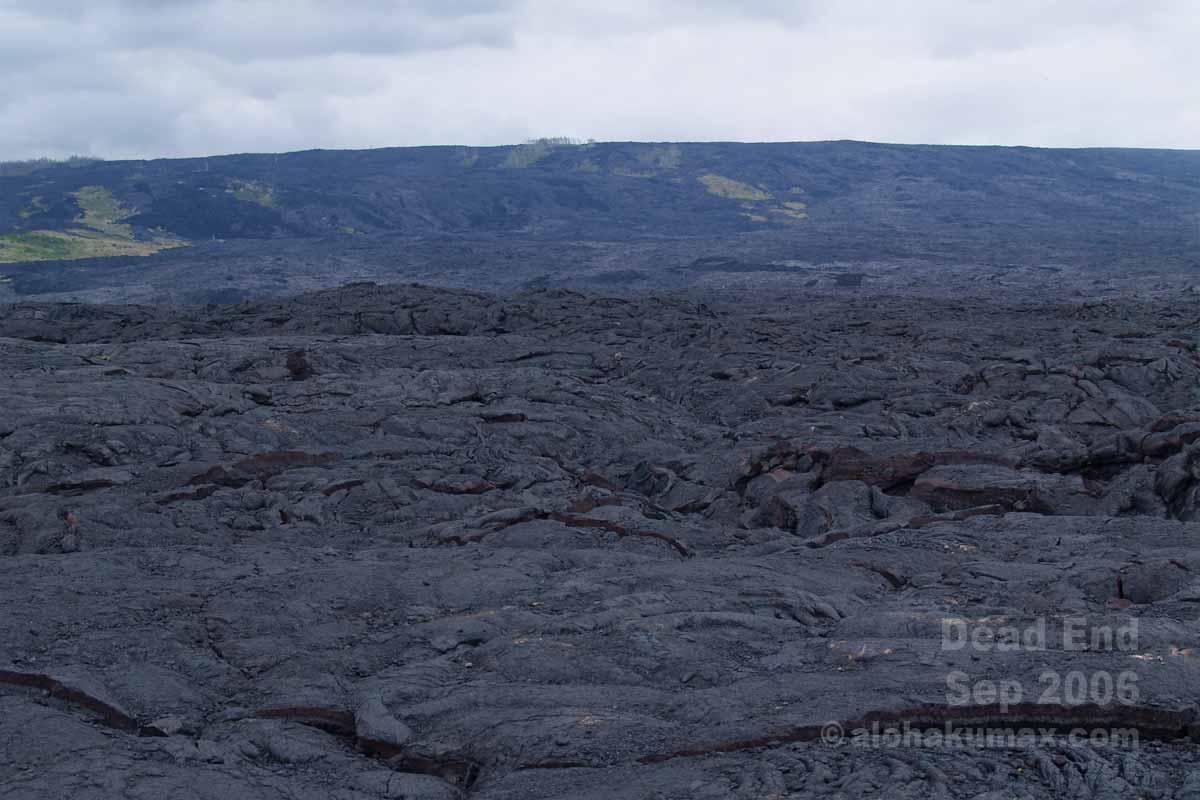 どこまでも続く溶岩大地