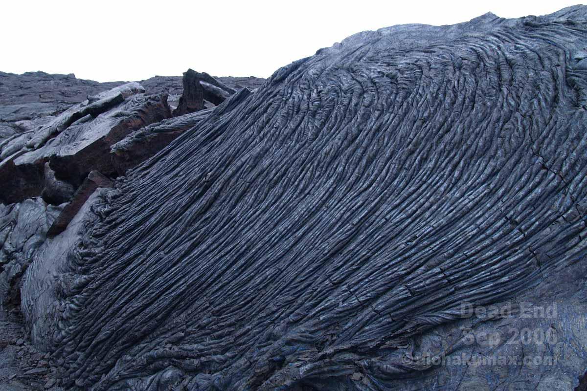 綺麗な模様のパホエホエ溶岩