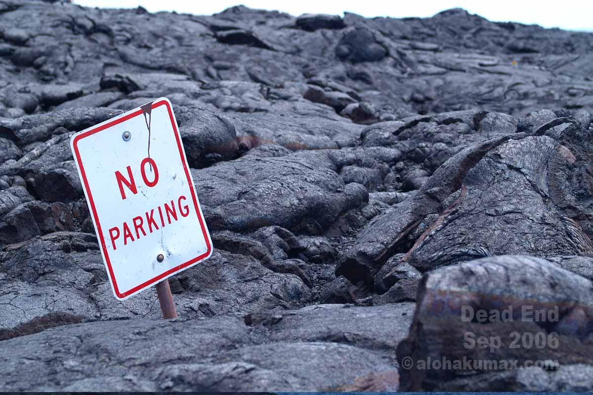 「NO PARKING」の標識