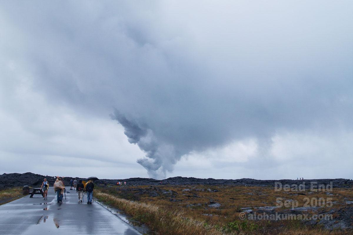 雨雲と一体化するオーシャンエントリー