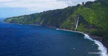 カルアヒネ滝 » 間近で見られる爽快感! / ハワイ島 ワイピオ渓谷