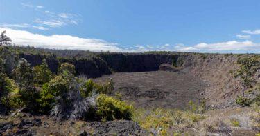 ケアナカコイ展望台 » カルデラの南にある小さなクレーター / キラウエア火山 ハワイ島