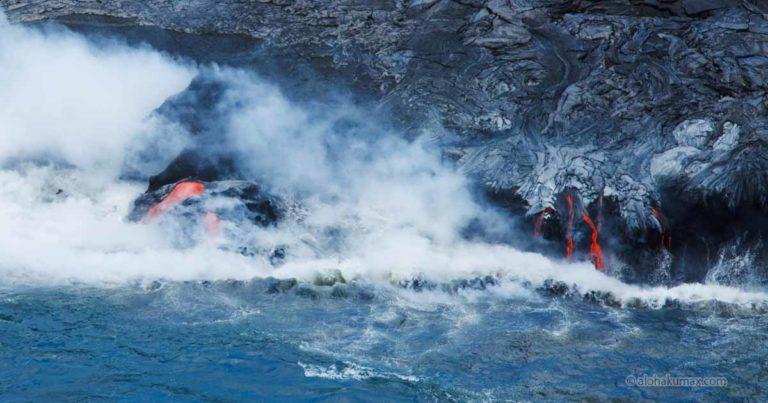 キラウエア火山のドロドロ溶岩