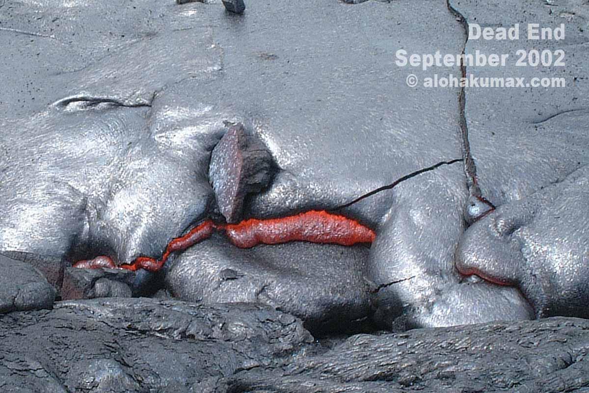 初めてのドロドロ溶岩(2002年9月)