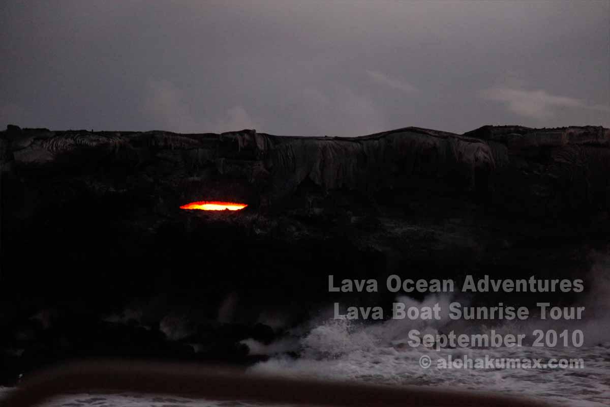 ラバチューブ内の溶岩