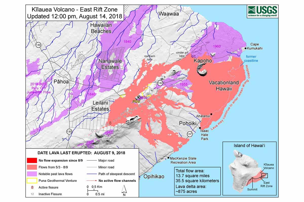 イーストリフトゾーン 噴火マップ