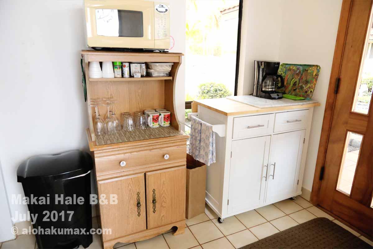 電子レンジ&冷蔵庫のエリア