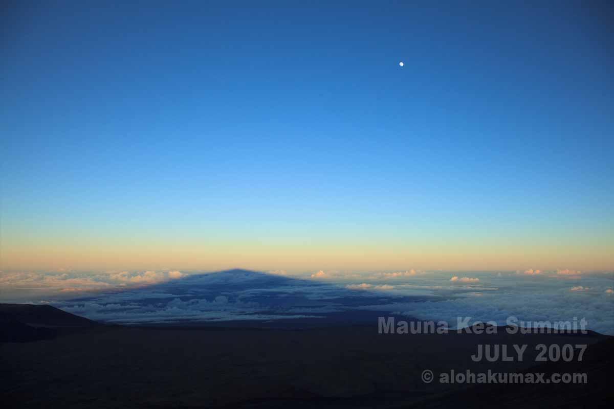 マウナケアの影