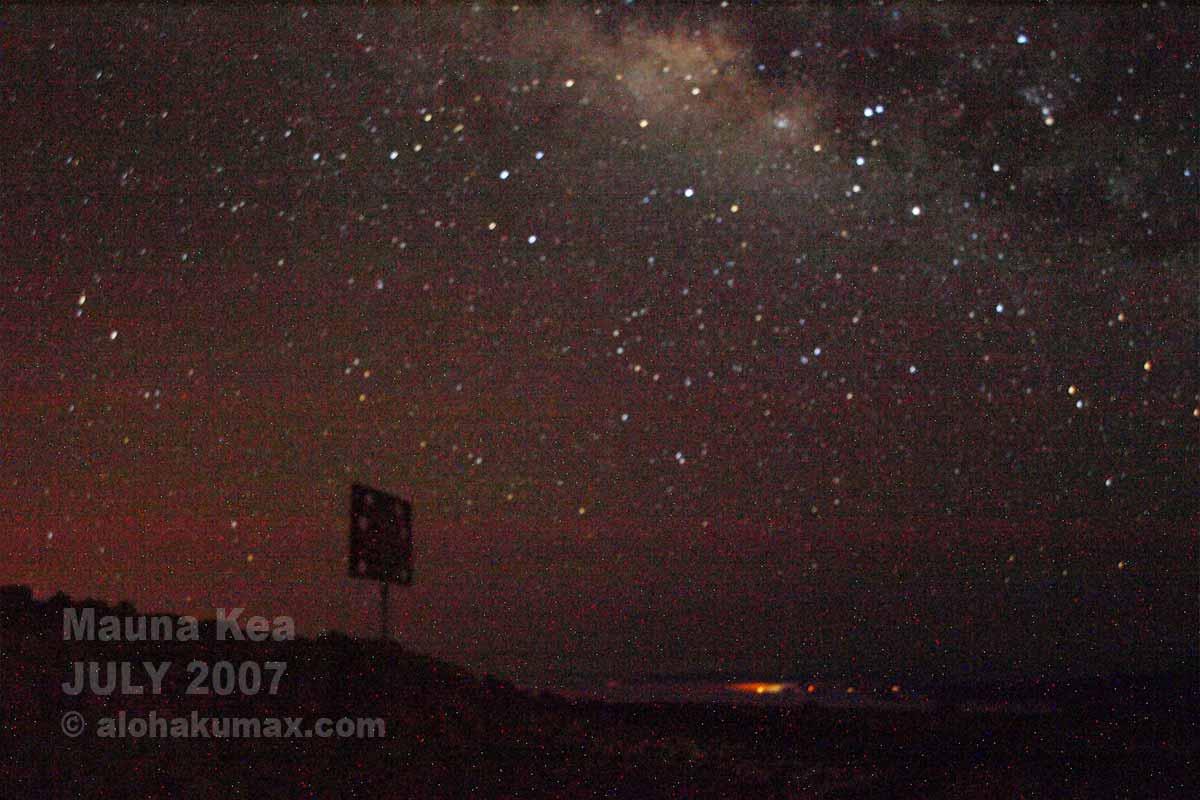 満点の星空なのに写真はイマイチ