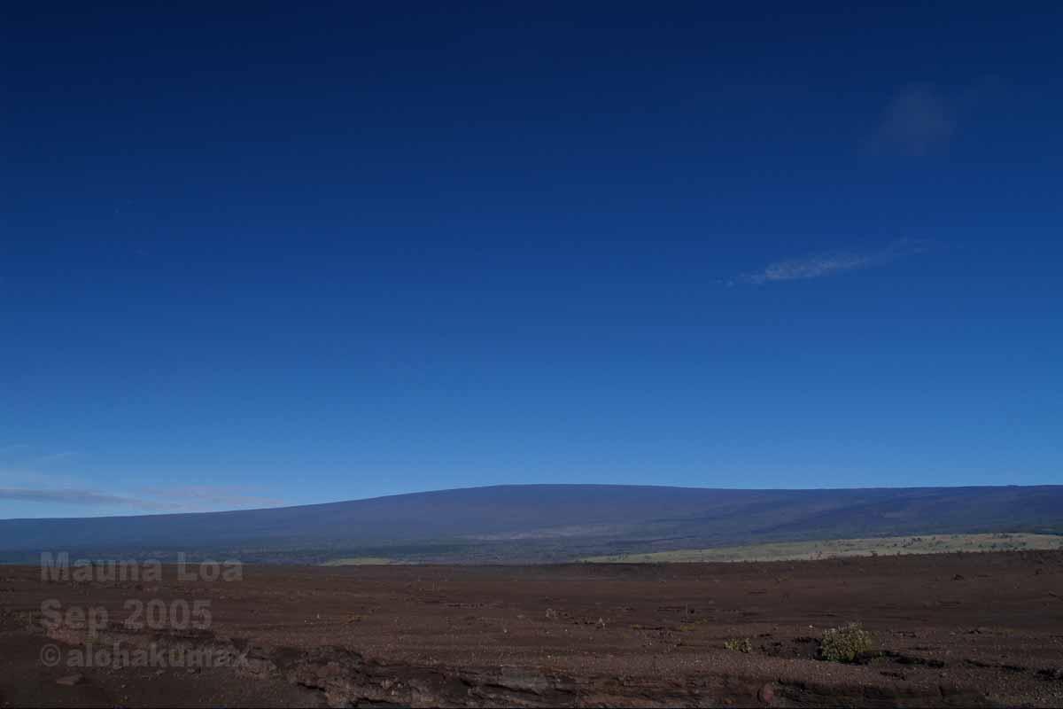 キラウエア火山にて撮影