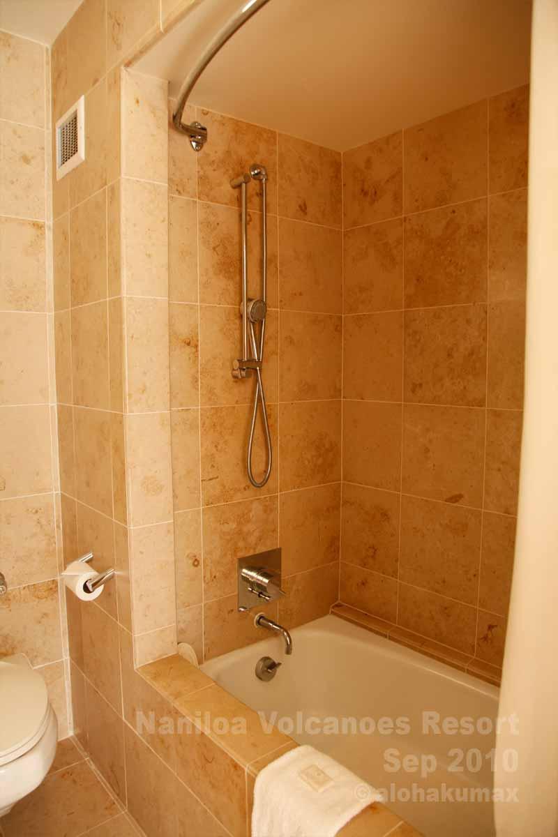 シャワーとバスタブ