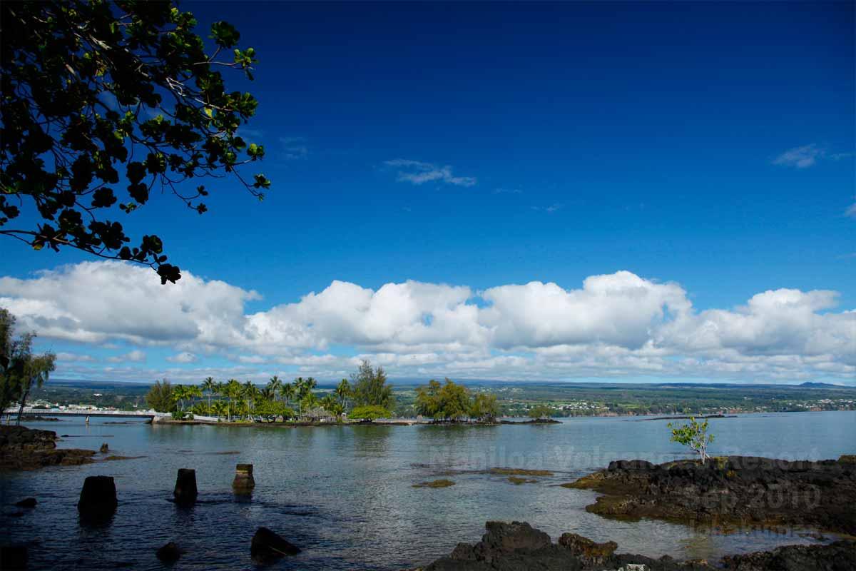 ヒロ湾とココナッツアイランド