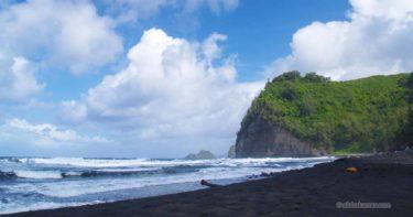 ポロル・バレー・ビーチ » しっとりとした美しさの黒砂海岸 / ハワイ島