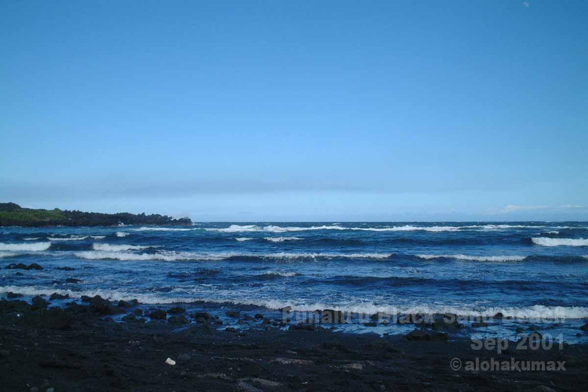 海の青が濃い