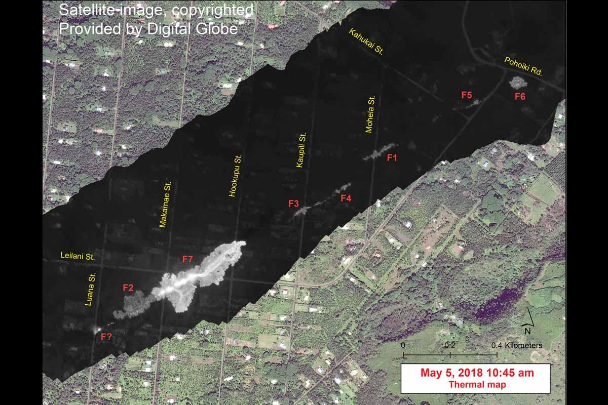 レイラニ・エステイトの噴火口(2018年5月5日)