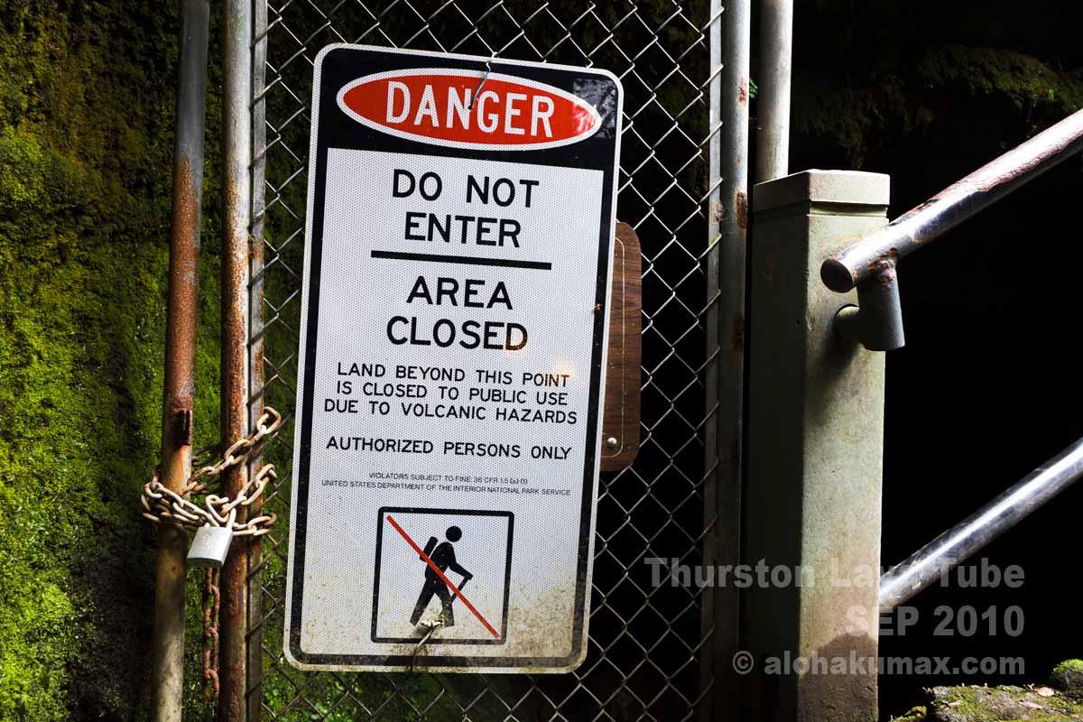 扉の注意書き
