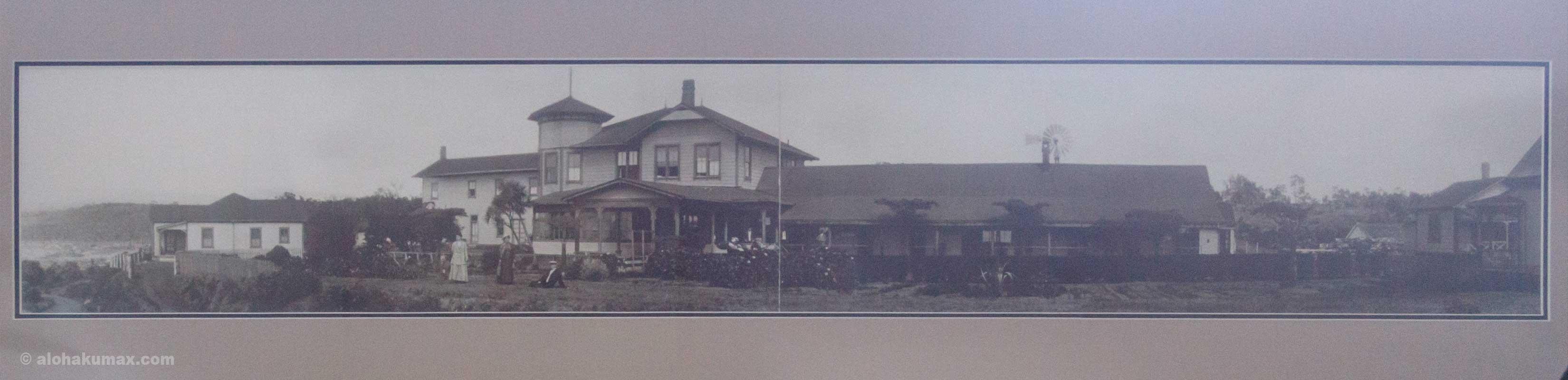 昔のボルケーノハウスの写真(パノラマ)