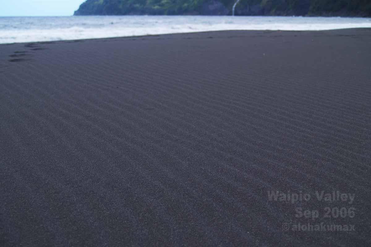 黒砂にできた風紋