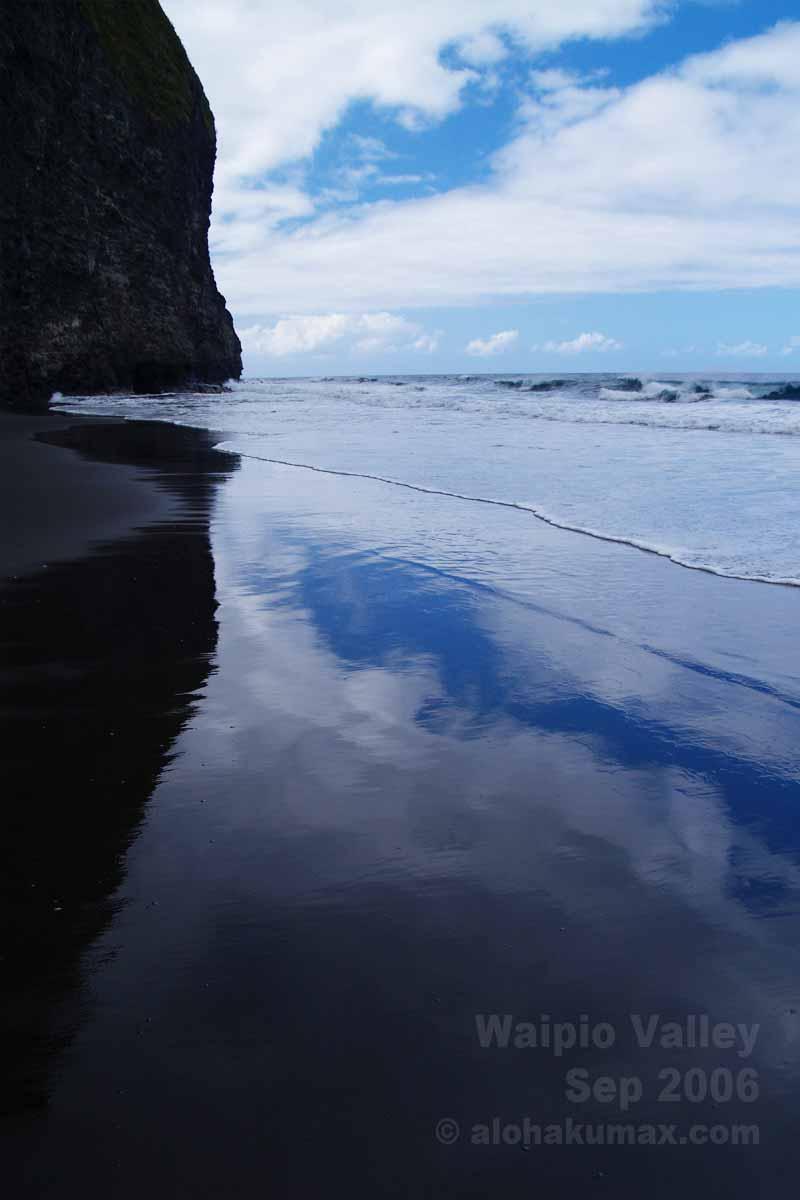 黒砂に映る空