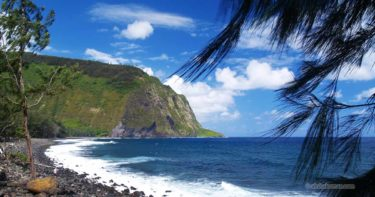 ワイピオ・ビーチ » ハワイ島で一番大きな黒砂ビーチ / ワイピオ渓谷