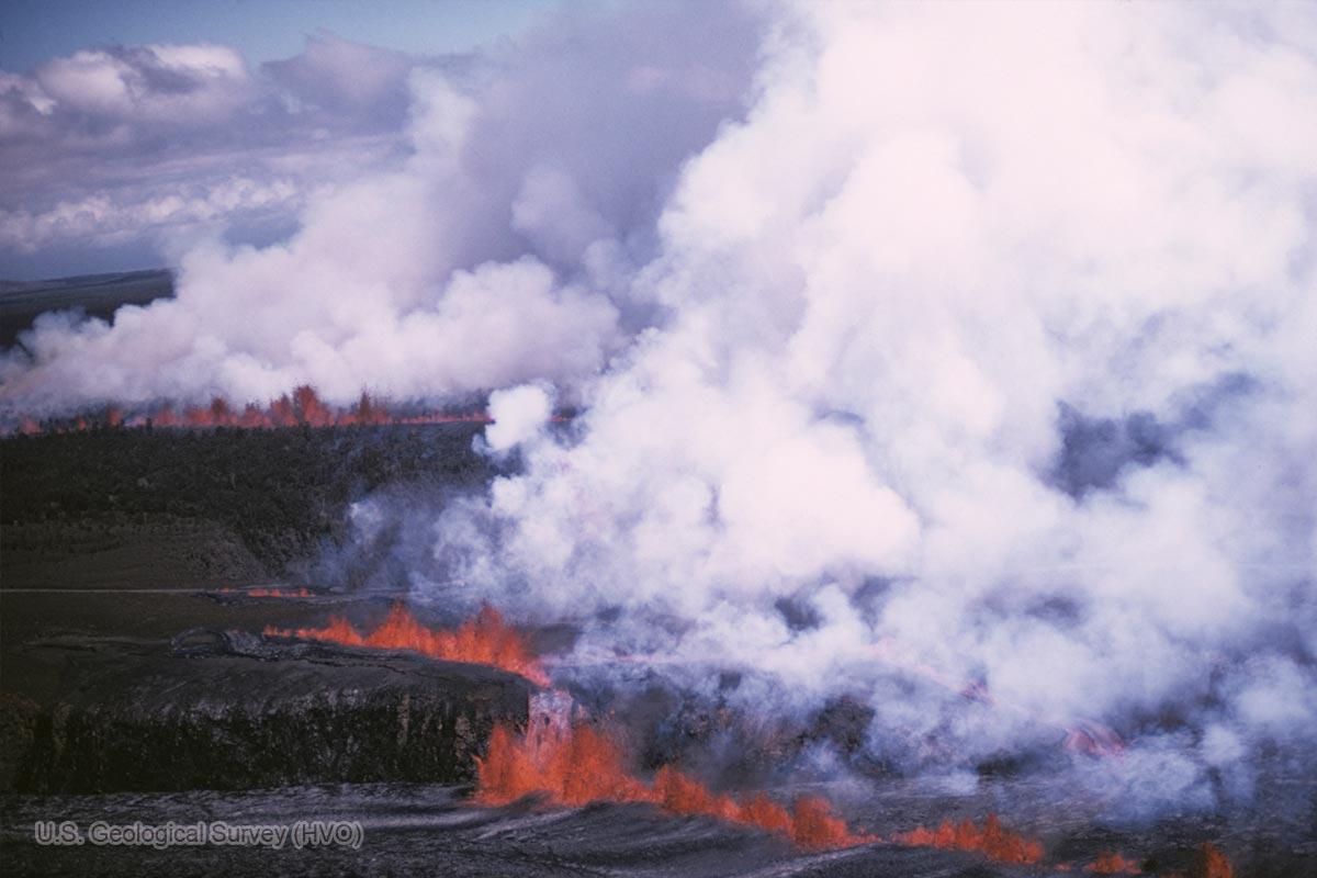 1974年7月19日の割れ目噴火