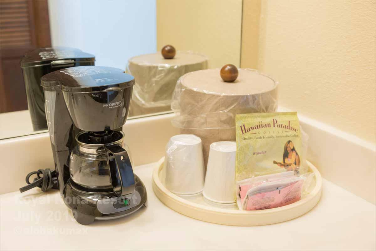 コーヒーメーカー&紙コップ