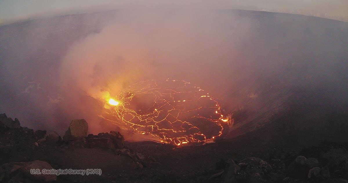 ハレマウマウ火口(2020年12月25日)